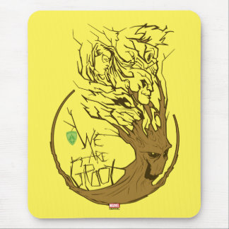 Guardians of the Galaxy | We Are Groot Branches Mouse Pad