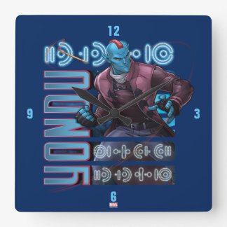 Guardians of the Galaxy | Yondu Character Badge Square Wall Clock