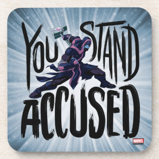 Guardians of the Galaxy | You Stand Accused Beverage Coaster