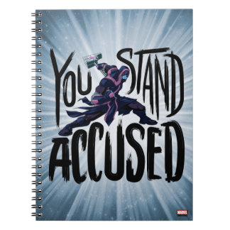 Guardians of the Galaxy | You Stand Accused Spiral Notebook