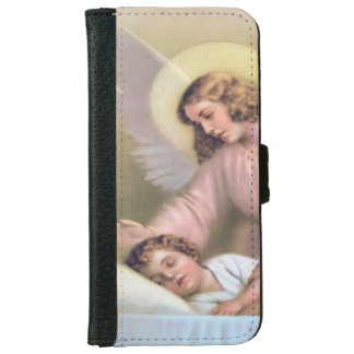 Guarding angel of children,vintage,reproduction iPhone 6 wallet case