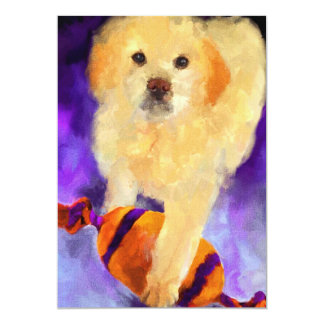 Guarding the Ball (puppy) 5x7 Mini Prints Card