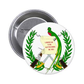 Guatemala  Coat of arms GT 6 Cm Round Badge