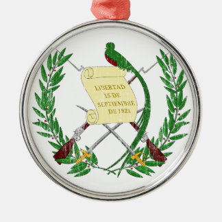 Guatemala Coat Of Arms Metal Ornament