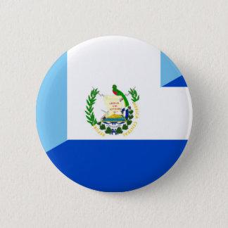 guatemala el salvador half flag country symbol 6 cm round badge