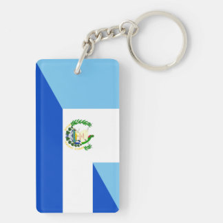 guatemala el salvador half flag country symbol key ring