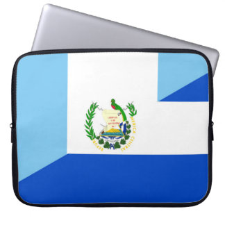 guatemala el salvador half flag country symbol laptop sleeve