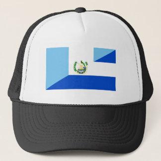 guatemala el salvador half flag country symbol trucker hat