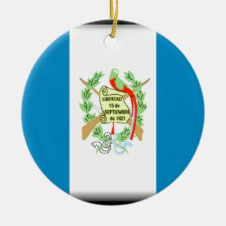Guatemala Flag Ceramic Ornament