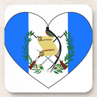 Guatemala Flag Heart Coaster
