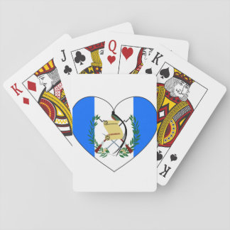 Guatemala Flag Heart Playing Cards