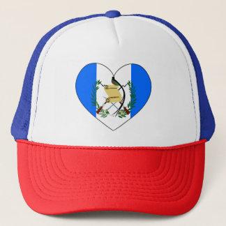 Guatemala Flag Heart Trucker Hat