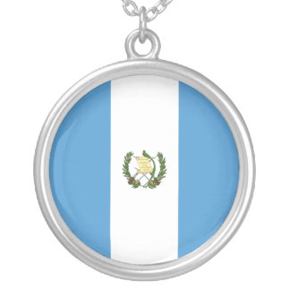Guatemala Flag Silver Plated Necklace