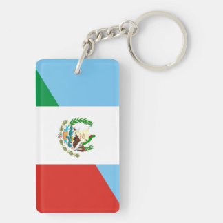 guatemala mexico half flag symbol key ring