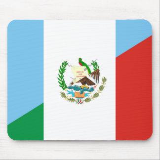 guatemala mexico half flag symbol mouse pad
