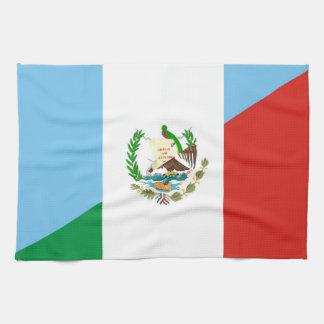 guatemala mexico half flag symbol tea towel