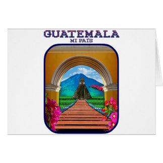 Guatemala mi pais siempre en primavera card