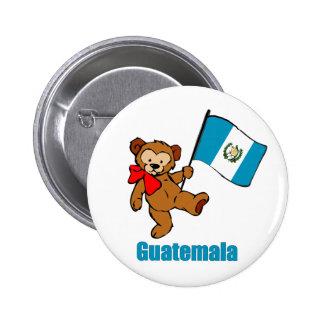 Guatemala Teddy Bear Button
