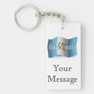 Guatemala Waving Flag Key Ring