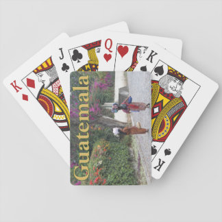 Guatemala Women, Woman, Flowers, Traditional Dress Playing Cards