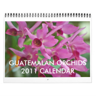 Guatemalan Orchids Calendar