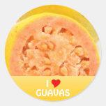 Guava fruits classic round sticker