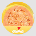 Guava fruits round stickers