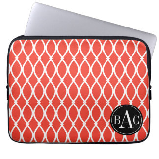 Guava Monogrammed Barcelona Print Computer Sleeves