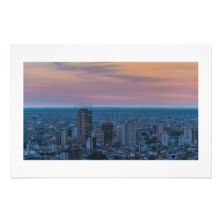 Guayaquil Aerial Cityscape View Sunset Scene Photograph