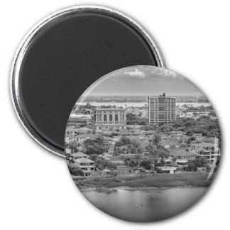 Guayaquil Aerial View from Window Plane 6 Cm Round Magnet