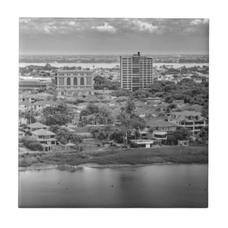Guayaquil Aerial View from Window Plane Ceramic Tile