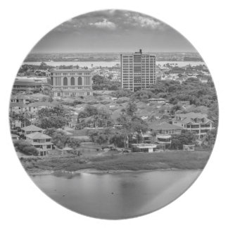 Guayaquil Aerial View from Window Plane Plate