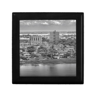 Guayaquil Aerial View from Window Plane Small Square Gift Box