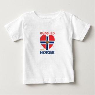 GUDS ILD OVER NORGE Norwegian Baby T-Shirt