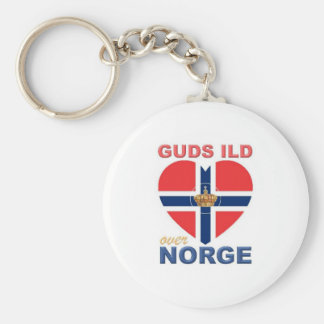 GUDS ILD OVER NORGE Norwegian Key Ring