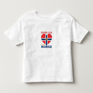 GUDS ILD OVER NORGE Norwegian Toddler T-Shirt
