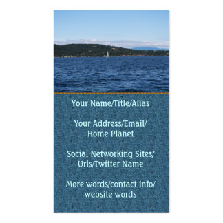 Guemes Island Ferry Double-Sided Standard Business Cards (Pack Of 100)