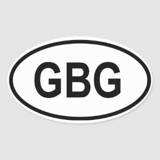 "Guernsey ""CBG"" Oval Sticker"