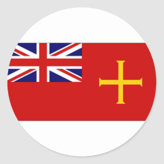 Guernsey Civil Ensign Flag Classic Round Sticker