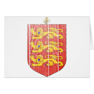 Guernsey Coat Of Arms Card