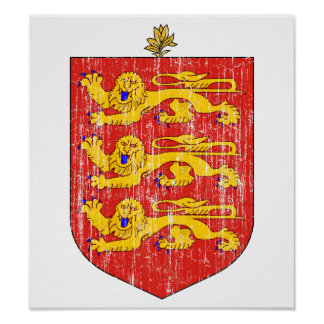 Guernsey Coat Of Arms Poster