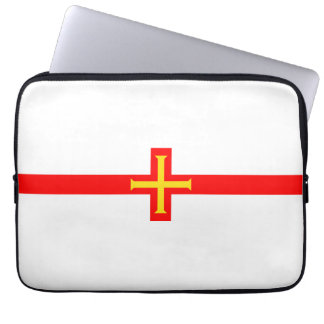 Guernsey country long flag nation symbol republic laptop computer sleeves