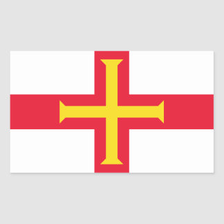 Guernsey Flag GG Rectangular Sticker