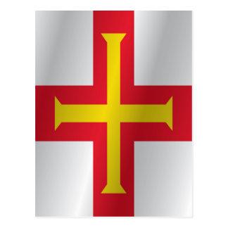 Guernsey flag postcard