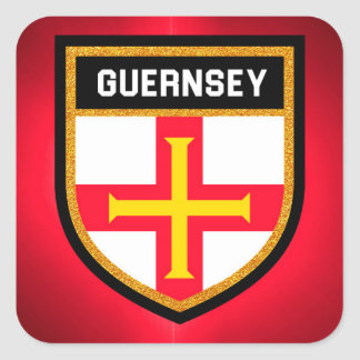 Guernsey Flag Square Sticker