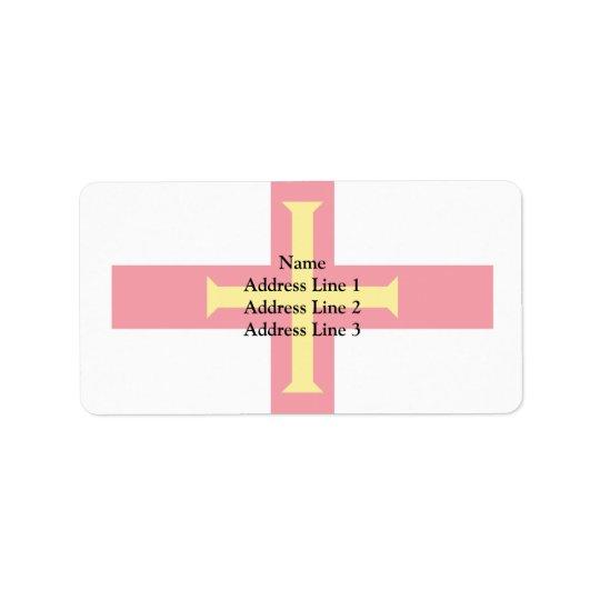 Guernsey, Guernsey flag Address Label