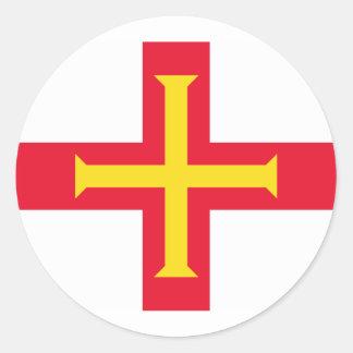 Guernsey, Guernsey flag Classic Round Sticker