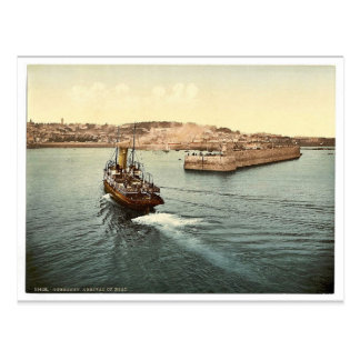 Guernsey, St. Peter's Port, arrival of boats, Chan Postcard