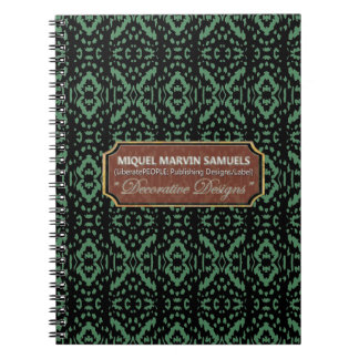 Guess What Animal Print Green Black Style Notebook