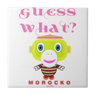 Guess What-Cute Monkey-Morocko Ceramic Tile